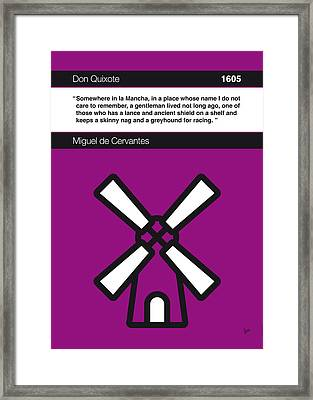 No027-my-don Quixote-book-icon-poster Framed Print