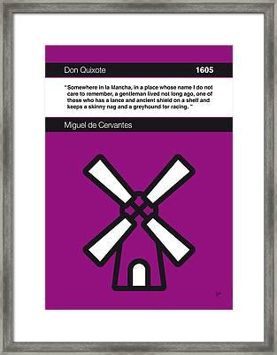 No027-my-don Quixote-book-icon-poster Framed Print by Chungkong Art