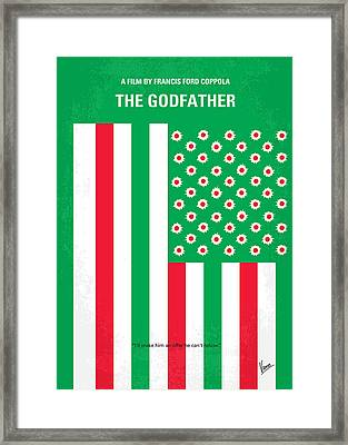 No028 My Godfather Minimal Movie Poster Framed Print