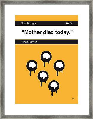 No028-my-the Stranger -book-icon-poster Framed Print