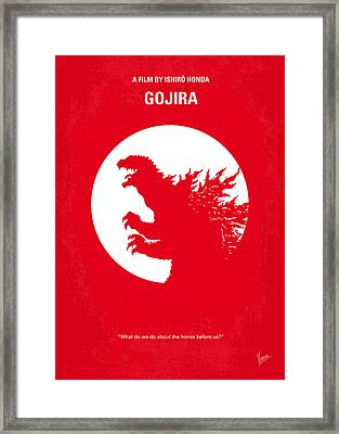 No029-1 My Godzilla 1954 Minimal Movie Poster Framed Print by Chungkong Art