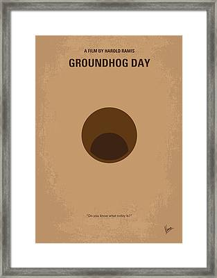 No031 My Groundhog Minimal Movie Poster Framed Print