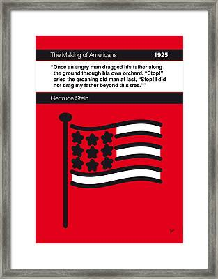 No033-my-the Making Of Americans-book-icon-poster Framed Print by Chungkong Art