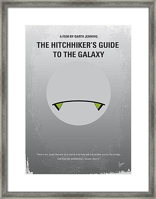 No035 My Hitchhiker Guide Minimal Movie Poster Framed Print by Chungkong Art