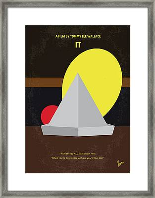 No043 My It Minimal Movie Poster Framed Print