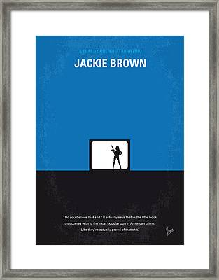 No044 My Jackie Brown Minimal Movie Poster Framed Print by Chungkong Art