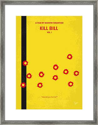 No048 My Kill Bill -part 1 Minimal Movie Poster Framed Print by Chungkong Art