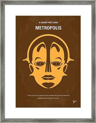 No052 My Metropolis Minimal Movie Poster Framed Print