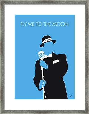 No059 My Sinatra Minimal Music Poster Framed Print by Chungkong Art