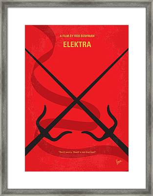No060 My Electra Minimal Movie Poster Framed Print by Chungkong Art