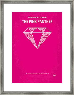 No063 My Pink Panther Minimal Movie Poster Framed Print by Chungkong Art