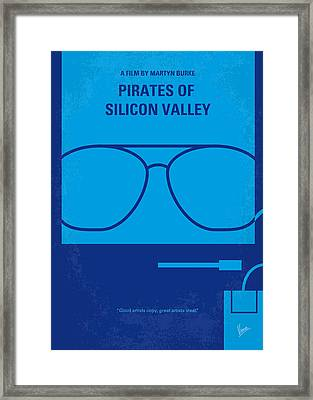 No064 My Pirates Of Silicon Valley Minimal Movie Poster Framed Print
