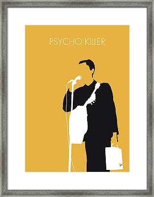 No064 My Talking Heads Minimal Music Poster Framed Print by Chungkong Art