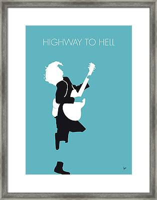No065 My Acdc Minimal Music Poster Framed Print by Chungkong Art