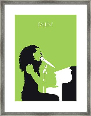 No066 My Alicia Keys Minimal Music Poster Framed Print