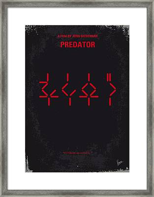 No066 My Predator Minimal Movie Poster Framed Print by Chungkong Art