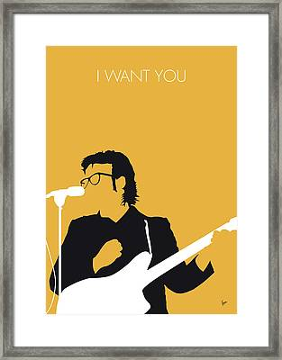No067 My Elvis Costello Minimal Music Poster Framed Print by Chungkong Art