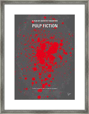 No067 My Pulp Fiction Minimal Movie Poster Framed Print by Chungkong Art