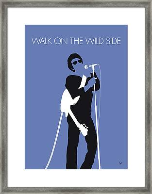 No068 My Lou Reed Minimal Music Poster Framed Print by Chungkong Art