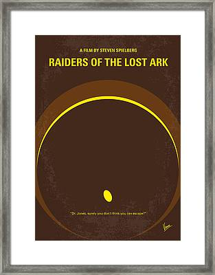 No068 My Raiders Of The Lost Ark Minimal Movie Poster Framed Print