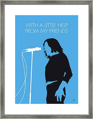 No069 My Joe Cocker Minimal Music Poster Framed Print