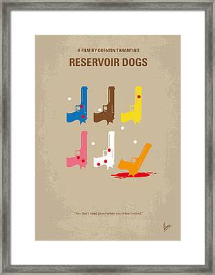 No069 My Reservoir Dogs Minimal Movie Poster Framed Print