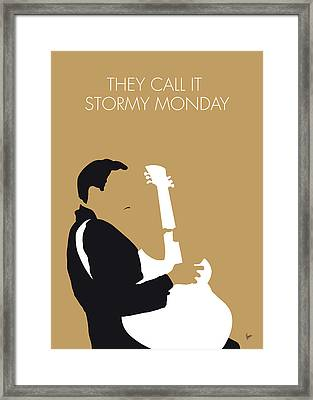 No070 My Tbone Walker Minimal Music Poster Framed Print by Chungkong Art