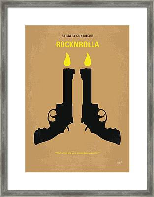 No071 My Rocknrolla Minimal Movie Poster Framed Print