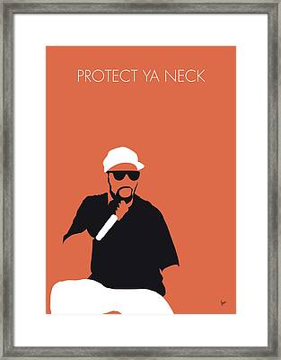 No073 My Wutangclan Minimal Music Poster Framed Print
