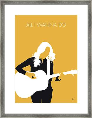 No074 My Sheryl Crow Minimal Music Poster Framed Print by Chungkong Art