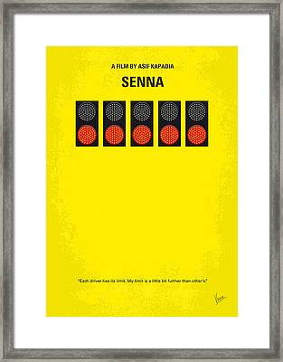 No075 My Senna Minimal Movie Poster Framed Print by Chungkong Art
