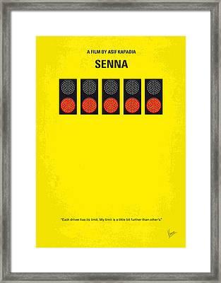 No075 My Senna Minimal Movie Poster Framed Print by Chungkong Art