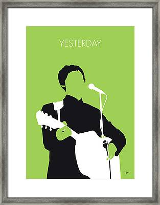 No076 My Paul Mccartney Minimal Music Poster Framed Print by Chungkong Art