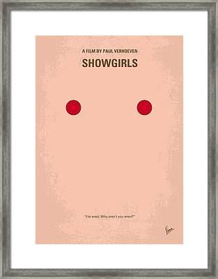 No076 My Showgirls Minimal Movie Poster Framed Print