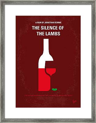 No078 My Silence Of The Lamb Minimal Movie Poster Framed Print