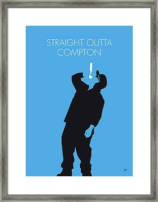 No079 My Nwa Minimal Music Poster Framed Print