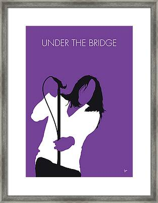 No081 My Red Hot Chilli Pepers Minimal Music Poster Framed Print