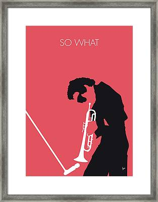 No082 My Miles Davis Minimal Music Poster Framed Print