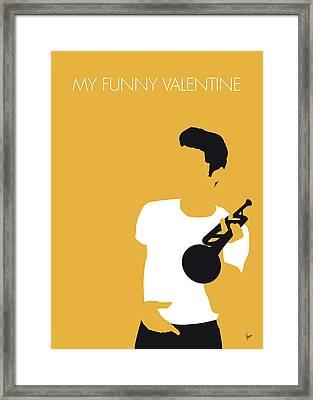 No084 My Chet Baker Minimal Music Poster Framed Print