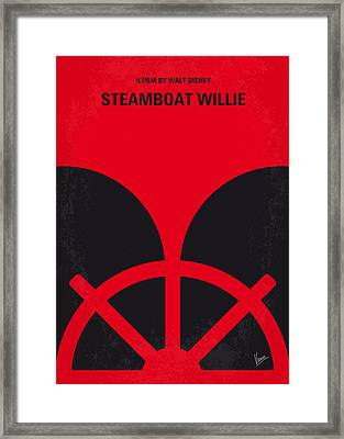No085 My Steamboat Willie Minimal Movie Poster Framed Print by Chungkong Art