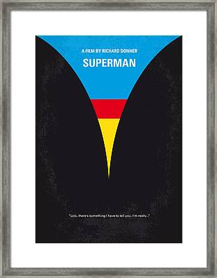 No086 My Superman Minimal Movie Poster Framed Print by Chungkong Art