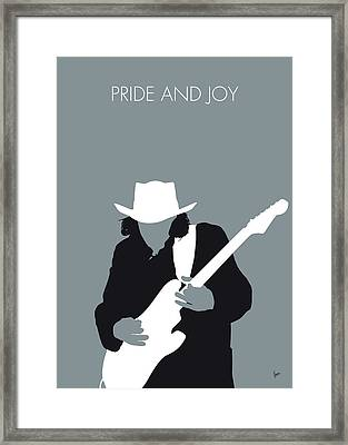 No087 My Stevie Ray Vaughan Minimal Music Poster Framed Print