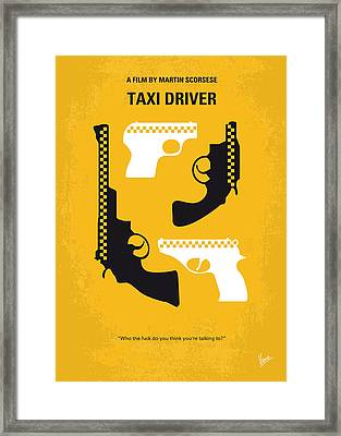 No087 My Taxi Driver Minimal Movie Poster Framed Print by Chungkong Art