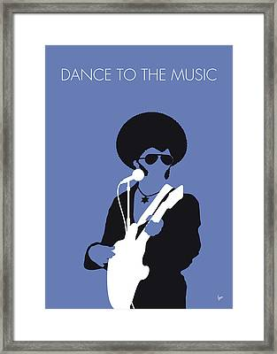 No088 My Sly And The Family Stone Minimal Music Poster Framed Print