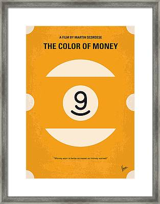 No089 My The Color Of Money Minimal Movie Poster Framed Print