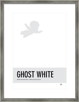 No09 My Minimal Color Code Poster Casper Framed Print by Chungkong Art
