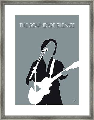 No097 My Paul Simon Minimal Music Poster Framed Print