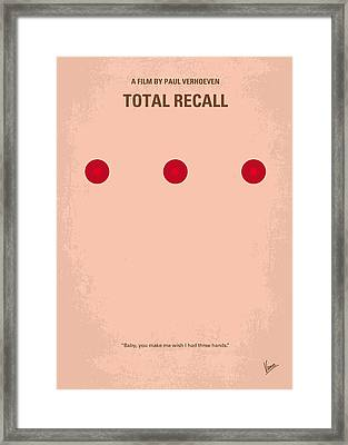 No097 My Total Recall Minimal Movie Poster Framed Print by Chungkong Art