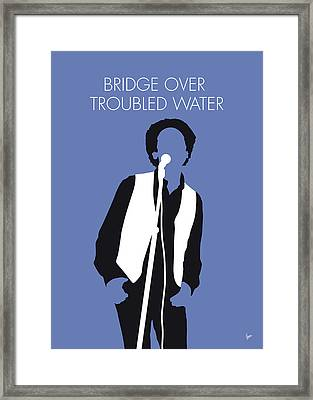 No098 My Art Garfunkel Minimal Music Poster Framed Print