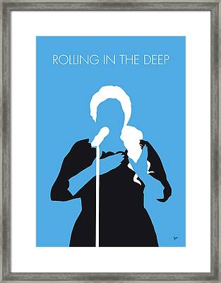 No099 My Adele Minimal Music Poster Framed Print